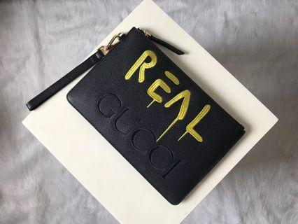 Gucci Clutch bag wallet LV prada burberry Versace Bally coach