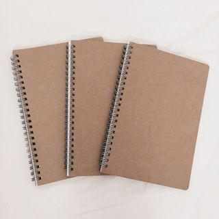 🚚 plain brown notebooks