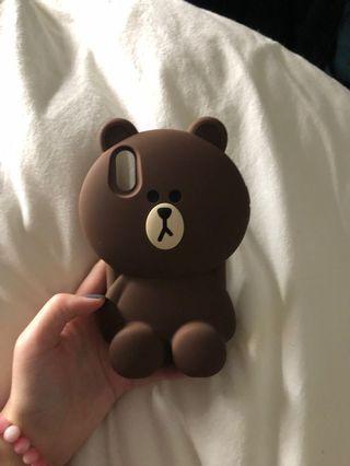 iphone x 熊大手機殼