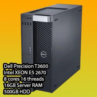 Dell Precision T3600 #16GB RAM #500GB HDD #Quadro #GTX #not ryzen intel nvidia amd radeon server