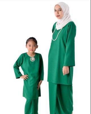 Baju Kurung Pahang Moden (Mom & Kids) - Green