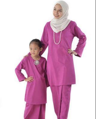 Baju Kurung Pahang (mom & kids) purple