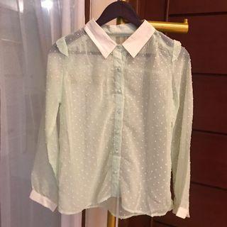 Korean mint blouse