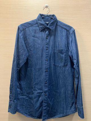 🚚 #便宜出清⚠️#Uniqlo男版牛仔襯衫