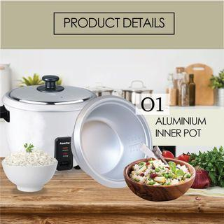 POWERPAC 0.6L Rice Cooker