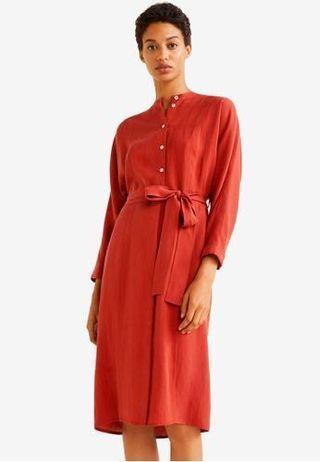 Mango soft bow dress