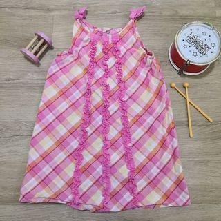 2T 24M Pink Summer Dress with Checkers
