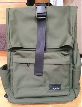Tas punggung nama / backpack namastudios hijau army