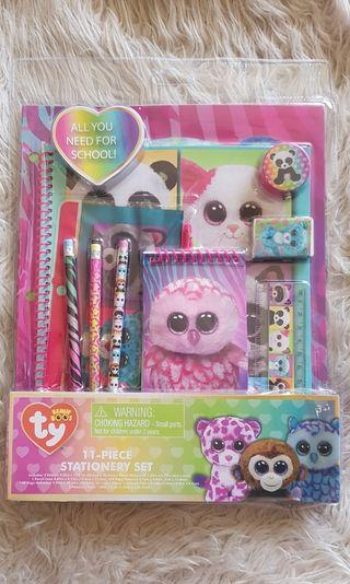 TY Beanie Boos 11 Piece Stationery Set