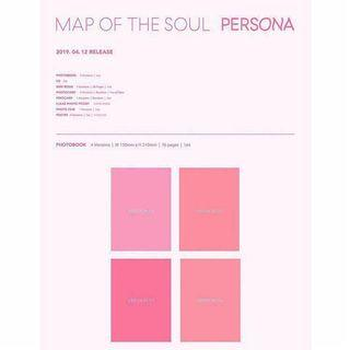 Incoming instock BTS Map of soul - Persona
