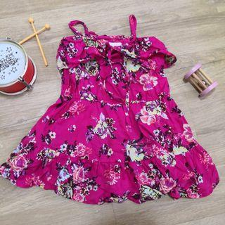 24M 2T Pink Floral Summer Spaghetti Dress