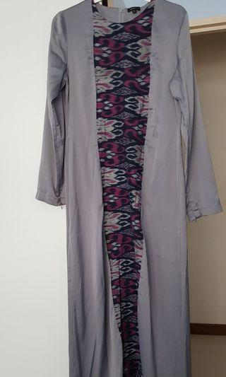 Grey with Batik long dress