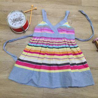 24M 2T Stripey Summer Dress Blue