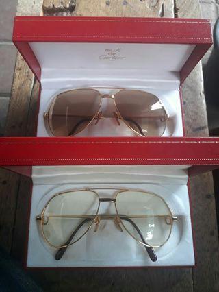 Cartier Vendome Louis Laque Aviator Sunglasses France AUTHENTIC Oldstock BNIB