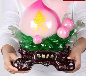 Longevity peach statue birthday 寿桃