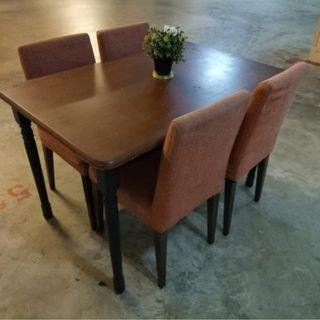 Wooden Dinning (set Self Collection, 11 Woodlands Close)