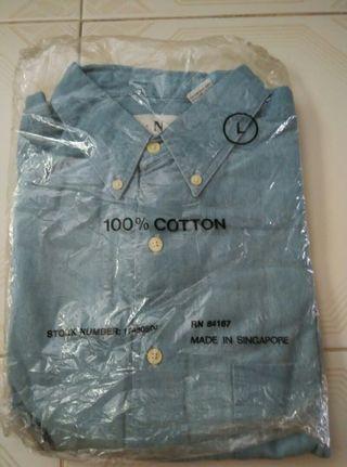 Brand new light blue denim long sleeve