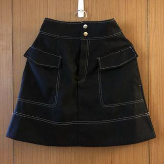 【Majestic legon】黑色A字裙