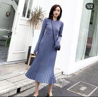 Korean Blue Dress