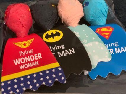Batman, Superman, Wonder woman & Frozen Queen Lollipop🍭