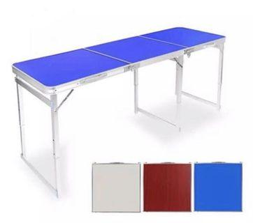 Portable Foldable Table 180 * 60 cm Red / Blue / White