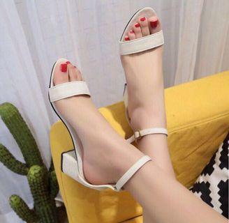 NEW Cream Color Block Heels
