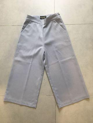 Grey Culottes Thick Quality