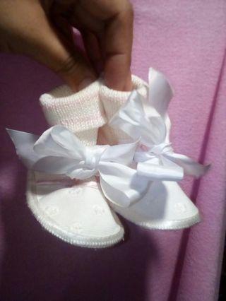 Italian made Baby Baptismal shoes