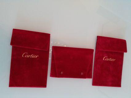 Cartier 絨錶袋3個