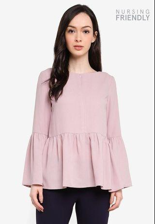 Zalia Gathered Peplum Top ( Nursing Friendly)