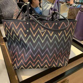 AUTHENTIC COACH REVERSIBLE CITY TOTE BAG