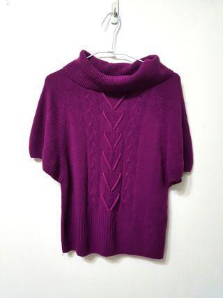 🚚 [售/換] 桃紫色翻領毛衣