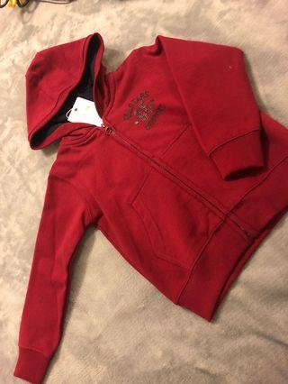 BRAND NEW Boys 3-8 Red Berry Cotton Hooded Jacket