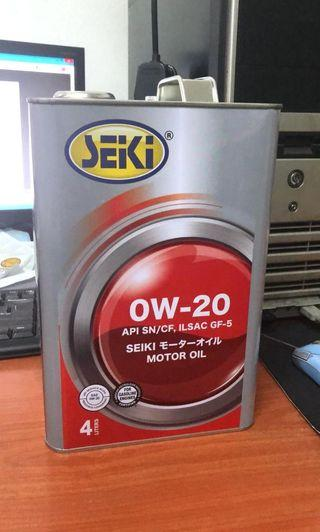 Seiki 0W20 fully synthetic engine lubricant