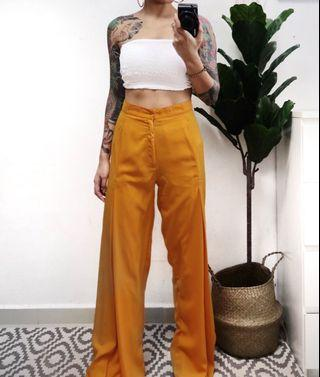 🚚 Orange flare loose pants