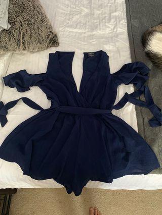 Blue play suit size 8