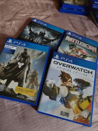 PS4 Games: Bundle (Destiny, Overwatch, Battleborn, Diablo III)