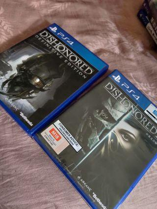 PS4 Game: Dishonored and Dishonored 2