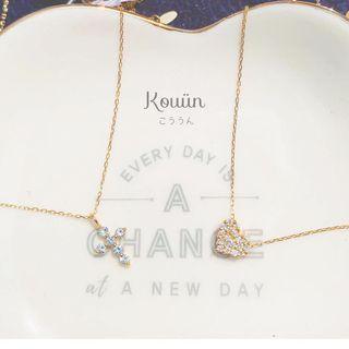 (新貨)18K鑽石頸鏈