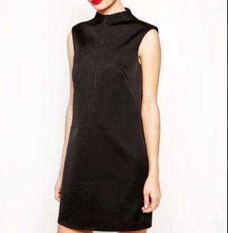 🚚 ASOS black satin-like dress