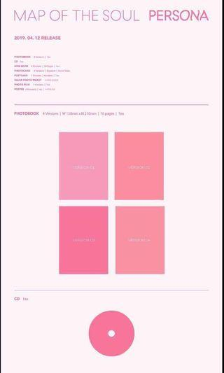 [SECOND BATCH] BTS MAP OF SOUL : PERSONA (SET)