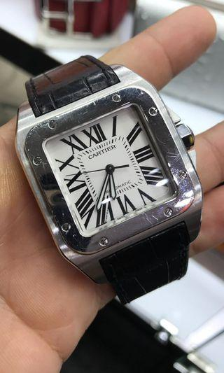 🚚 Cartier Santos 100 leather Black