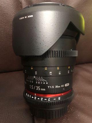 極新 Samyang 35mm T1.5 UMC Canon