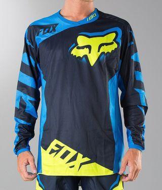 Original Fox 180 MX jersey blue/yellow large