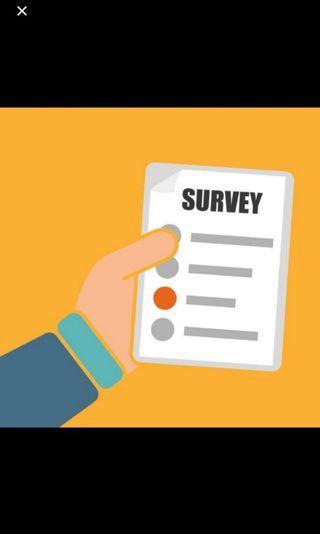 Freelance part time surveyor job