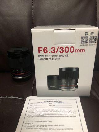 極新淨 行貨全套有盒 Samyang 300mm F6.3 Canon