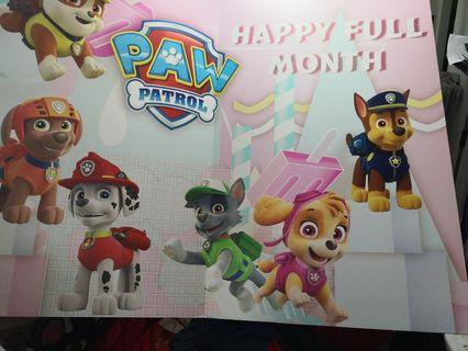 Paw petrol full month decorations