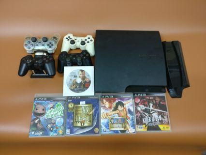 PlayStation 3 Slim 四手制 + 5隻games