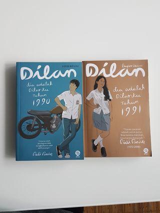 Novel Dilan 1990 & Dilan 1991 (Preloved)