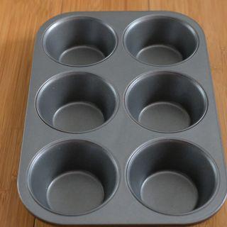 Loyang Teflon Muffin - Anti Lengket - 6 lubang
